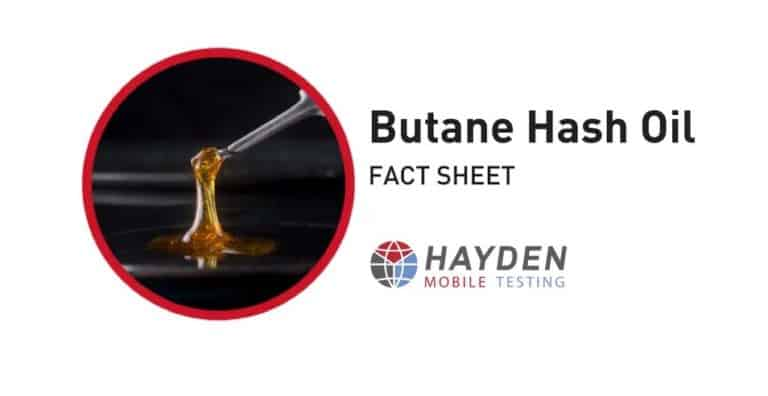 Butane Hash Oil - Workplace Testing Service - Hayden Health & Safety