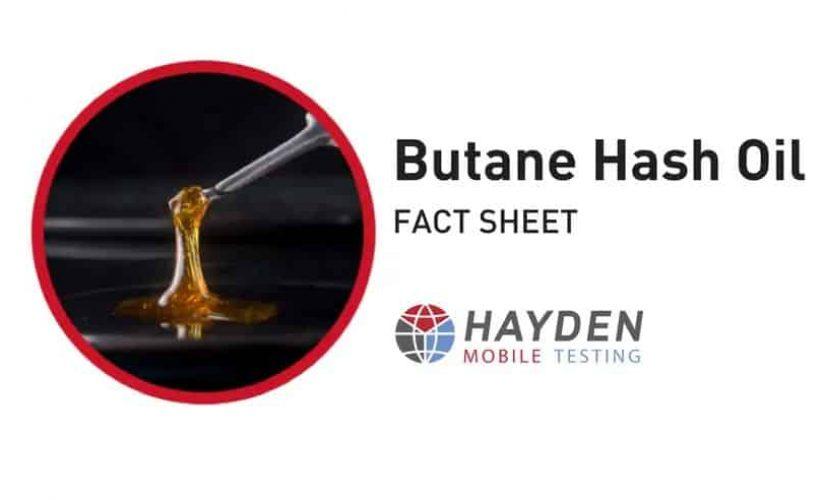 Butane Hash Oil - Workplace Testing Service - Hayden Health & Safety